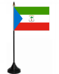 Equatorial Guinea Desk / Table Flag with plastic stand and base.
